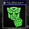 Autobot The FInger Decal Sticker Transformers Lime Green Vinyl 120x120
