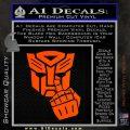 Autobot The FInger Decal Sticker Transformers Orange Vinyl Emblem 120x120