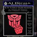 Autobot The FInger Decal Sticker Transformers Pink Vinyl Emblem 120x120
