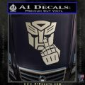 Autobot The FInger Decal Sticker Transformers Silver Vinyl 120x120