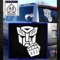 Autobot The FInger Decal Sticker Transformers White Emblem 120x120