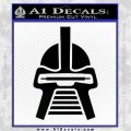Battlestar Galactica Cylon Head Retro Decal Sticker Black Logo Emblem 120x120