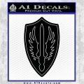 Battlestar Pegasus Wings Decal Sticker BSG Black Logo Emblem 120x120