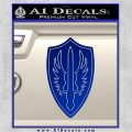 Battlestar Pegasus Wings Decal Sticker BSG Blue Vinyl 120x120