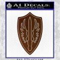 Battlestar Pegasus Wings Decal Sticker BSG Brown Vinyl 120x120