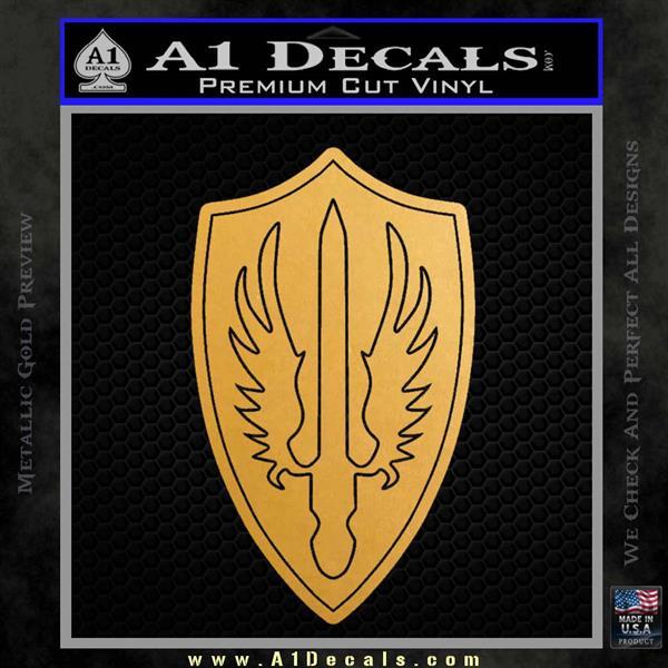 Battlestar Pegasus Wings Decal Sticker BSG Metallic Gold Vinyl Vinyl