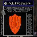 Battlestar Pegasus Wings Decal Sticker BSG Orange Vinyl Emblem 120x120