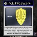 Battlestar Pegasus Wings Decal Sticker BSG Yelllow Vinyl 120x120