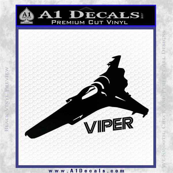Battlestar Viper Decal Sticker BSG D4 Black Logo Emblem