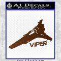 Battlestar Viper Decal Sticker BSG D4 Brown Vinyl 120x120