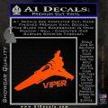 Battlestar Viper Decal Sticker BSG D4 Orange Vinyl Emblem 120x120