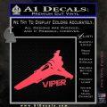 Battlestar Viper Decal Sticker BSG D4 Pink Vinyl Emblem 120x120
