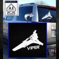 Battlestar Viper Decal Sticker BSG D4 White Emblem 120x120