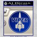 Battlestar Viper Pilot Decal Sticker CR BSG Blue Vinyl 120x120