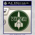 Battlestar Viper Pilot Decal Sticker CR BSG Dark Green Vinyl 120x120