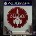 Battlestar Viper Pilot Decal Sticker CR BSG Dark Red Vinyl 120x120