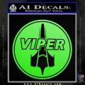 Battlestar Viper Pilot Decal Sticker CR BSG Lime Green Vinyl 120x120