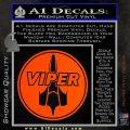 Battlestar Viper Pilot Decal Sticker CR BSG Orange Vinyl Emblem 120x120