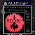 Battlestar Viper Pilot Decal Sticker CR BSG Pink Vinyl Emblem 120x120