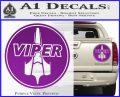 Battlestar Viper Pilot Decal Sticker CR BSG Purple Vinyl 120x97