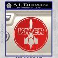 Battlestar Viper Pilot Decal Sticker CR BSG Red Vinyl 120x120