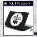 Battlestar Viper Pilot Decal Sticker CR BSG White Vinyl Laptop 120x120