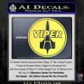 Battlestar Viper Pilot Decal Sticker CR BSG Yelllow Vinyl 120x120