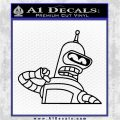Bender Decal Sticker Bite My Shiny Metal Ass Black Logo Emblem 120x120