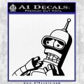 Bender Worried Decal Sticker Futurama Black Logo Emblem 120x120