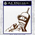 Bender Worried Decal Sticker Futurama Brown Vinyl 120x120