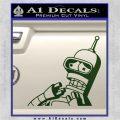 Bender Worried Decal Sticker Futurama Dark Green Vinyl 120x120