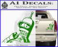 Bender Worried Decal Sticker Futurama Green Vinyl 120x97