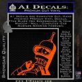Bender Worried Decal Sticker Futurama Orange Vinyl Emblem 120x120