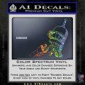 Bender Worried Decal Sticker Futurama Sparkle Glitter Vinyl 120x120