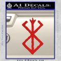 Berserk Brand Of Sacrifice Decal Sticker D1 Red Vinyl 120x120