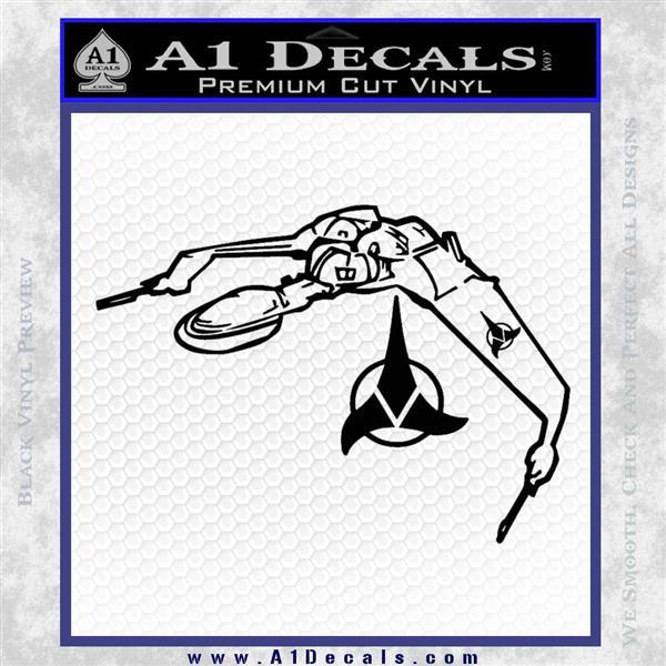 Bird Of Prey Decal Sticker Klingon Ship Star Trek D2 Black Logo Emblem