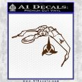 Bird Of Prey Decal Sticker Klingon Ship Star Trek D2 Brown Vinyl 120x120