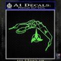 Bird Of Prey Decal Sticker Klingon Ship Star Trek D2 Lime Green Vinyl 120x120