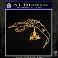Bird Of Prey Decal Sticker Klingon Ship Star Trek D2 Metallic Gold Vinyl Vinyl 120x120