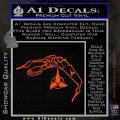 Bird Of Prey Decal Sticker Klingon Ship Star Trek D2 Orange Vinyl Emblem 120x120
