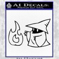 Black Mage Decal Sticker Final Fantasy Fire Black Logo Emblem 120x120