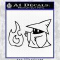 Black Mage Decal Sticker Final Fantasy Fire Black Logo Emblem 120x120