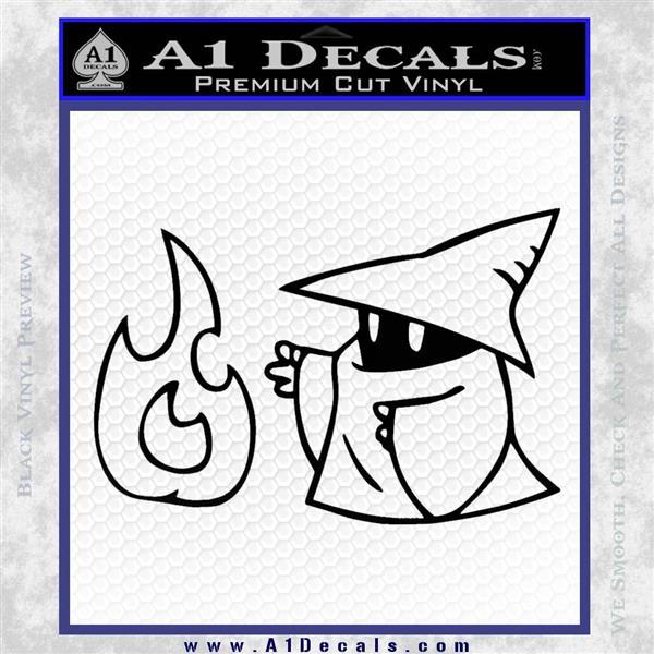 Black Mage Decal Sticker Final Fantasy Fire Black Logo Emblem