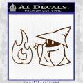 Black Mage Decal Sticker Final Fantasy Fire Brown Vinyl 120x120