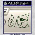 Black Mage Decal Sticker Final Fantasy Fire Dark Green Vinyl 120x120