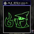 Black Mage Decal Sticker Final Fantasy Fire Lime Green Vinyl 120x120