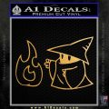 Black Mage Decal Sticker Final Fantasy Fire Metallic Gold Vinyl Vinyl 120x120