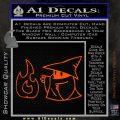 Black Mage Decal Sticker Final Fantasy Fire Orange Vinyl Emblem 120x120