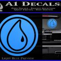 Blue Mana Symbol Decal Sticker MTG Magic Light Blue Vinyl 120x120