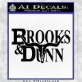 Brooks Dunn Decal Sticker TXT Black Logo Emblem 120x120